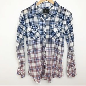 RAILS | Ombré Plaid Ashton Button Up - Red & Blue
